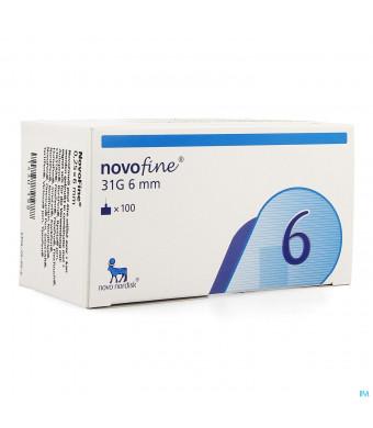 Novofine Ster Naald 6mm/31g 100 St1430198-30