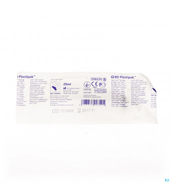 Bd Plastipak Spuit Luer-lok 20ml 1 3006291444298-32