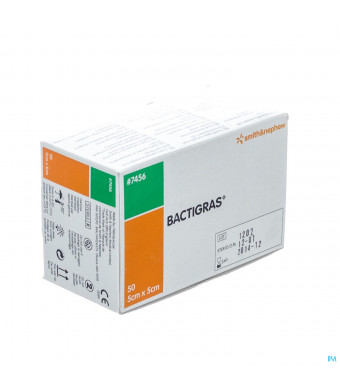 Bactigras Verband 5cmx 5cm 50 74561596675-31