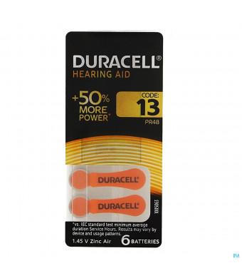 Duracell Easytab Hoorbatterij Da13 6 Oranje1656636-30