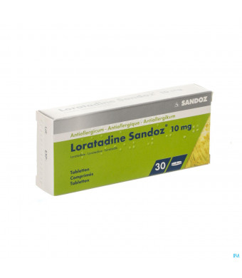 Loratadine Sandoz Comp 30 X 10mg1791151-30