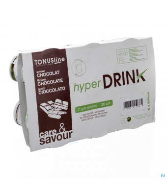 Hyperdrink Chocolade Z/lactose Pot 6x200ml3033453-31
