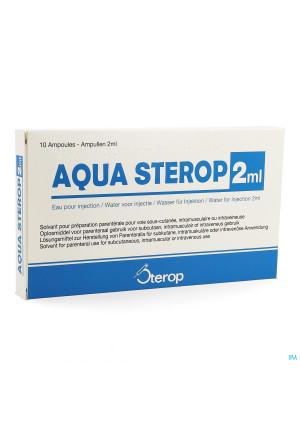 Aqua Sterop Pour Inj Solvens Amp 10 X 2ml0298760-20