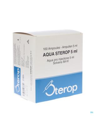 Aqua Sterop Pour Inj Solvens Amp 100 X 5ml0389700-20