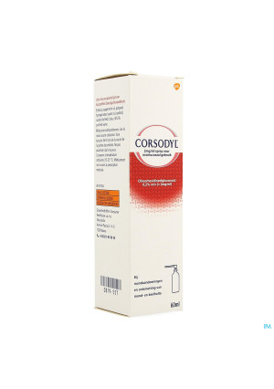 Corsodyl 2mg/ml Spray0819557-20