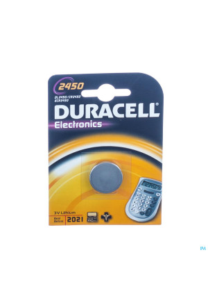 Duracell Dl/cr 2450 Diam24mm Ep50mm1629419-20