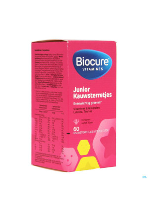 Biocure Junior Kauwsterretjes 60 St tabletten2222792-20