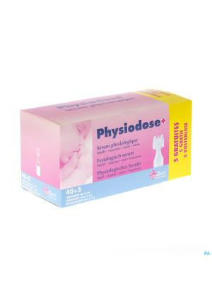 Physiodose Serum Fysio Ud Ster 40x5ml+5 Gratis2612513-20
