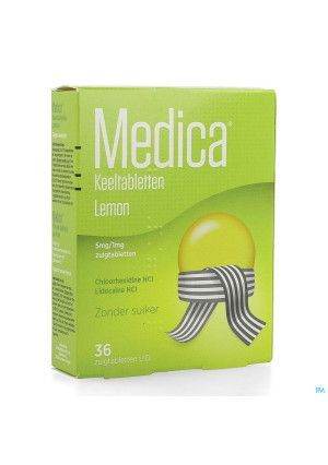 Medica Keeltabletten Lemon 36 zuigtabletten2639136-20