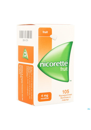 Nicorette Fruit Kauwgom 105x4mg2641074-20