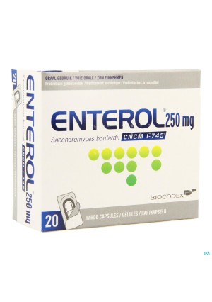 Enterol 250mg Caps Harde Dur S/blister 20x250mg2882710-20