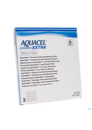 Aquacel Extra Verb Hydrofiber+versterk. 15x15cm 33090974-20