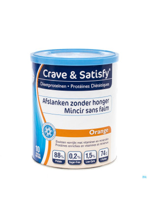 Crave and Satisfy Dieetproteinen Orange Pot 200g3130226-20