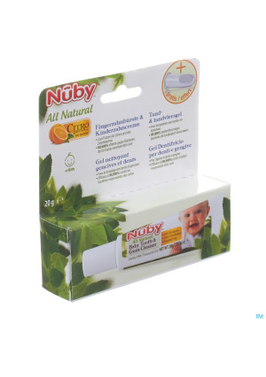 Nuby Citroganix Tand en tandvleesgel + vingertandenborsteltje – 15g 4m+3142221-20