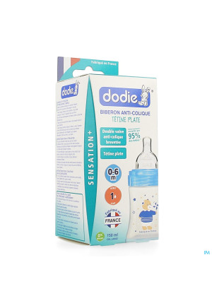 Dodie Zuigfles Sensation+ Blauwe Beer 0-6m 150ml3263241-20