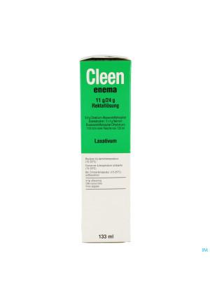 Cleen Enema 11g/24g Opl Rectaal Gebruik Fl 133ml3391315-20