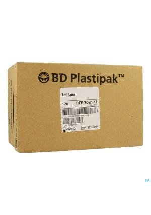 Bd Plastipak Spuit Luer Tuberculine 1ml 120 3031723393865-20