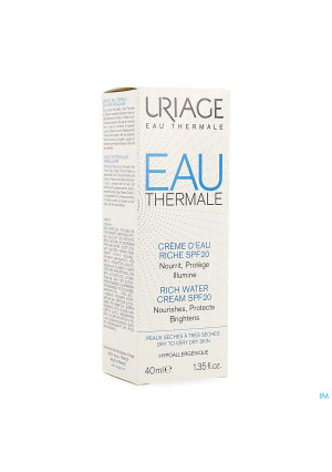 Uriage Eau Thermale Cr Water Rijk Ip20 40ml3480183-20