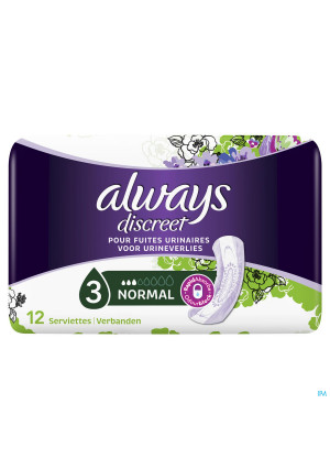 Always Discreet Incontinence Pad Normal 123496205-20