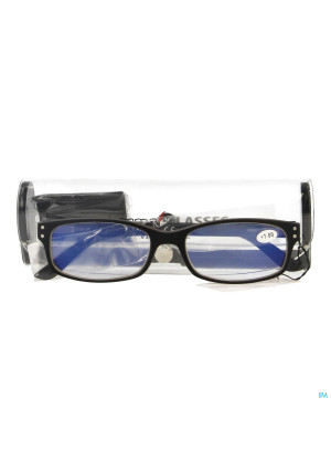 Pharmaglasses Visionblue Pc01 Leesbril +1.00 Black3499274-20