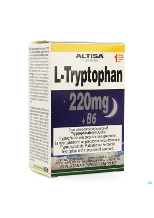 Altisa l-tryptofaan 220mg + B6 V-caps 603513314-20