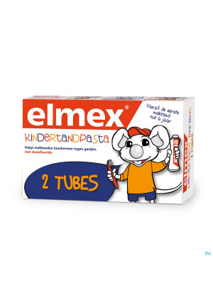 ELMEX® KINDERTANDPASTA TUBE 2x50ML3535085-20