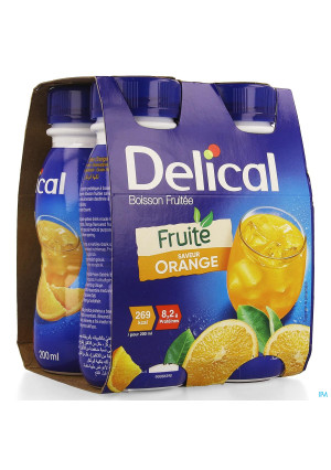 Delical Fruitdrink Sinaasappel 4x200ml3584034-20