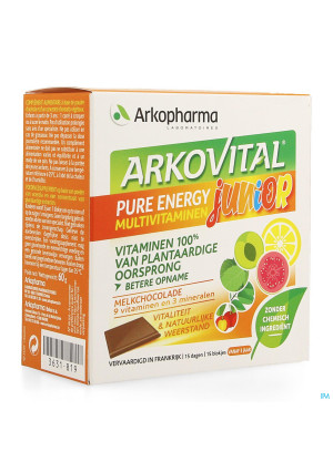 Arkovital Pure Energy Junior Chocolade Blokje 153631819-20