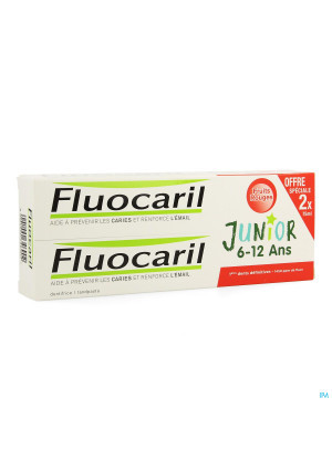 Duo Fluocaril Junior Rood Fruit 2x75ml3665262-20