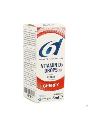 6d Sixd Vitamin D3 Drops Cherry 5ml3687829-20