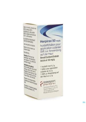 HERPIRAX 50 MG/ACICLOVIR HUIDSTIFT 4,2 G3739166-20