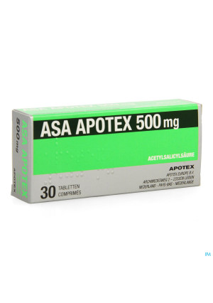 Asa Apotex 500mg Comp 30 X 500mg3797248-20