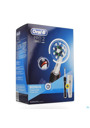 Oral B Pro 2500 Black Borstel Crossact+travel Case3897527-20