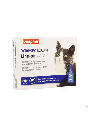 Beaphar Vermicon Line-on Kat 3x1ml3898129-20