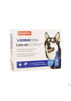 Beaphar Vermicon Line-on Middelgrote Hond 3x3ml3898145-20