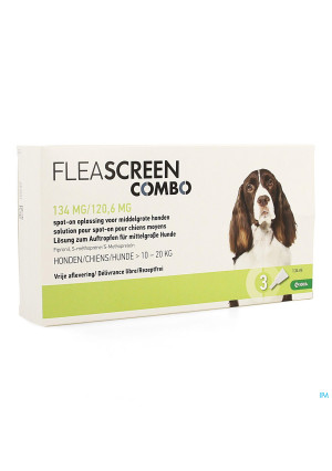 Fleascreen Combo 134mg/120,6mg Spot On Hond Pip. 33903234-20