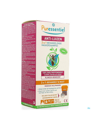 Puressentiel A/luizen Sh Behand. 2in1 150ml + Kam3918711-20