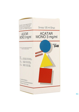 Acatar Mono 3mg/ml Siroop 125ml4133641-20