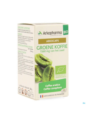 Arkocaps Groene Koffie Bio Caps 45 Nf4137832-20