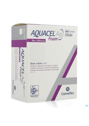 Aquacel Ag Foam Non Adhesief 5x5cm 104155313-20