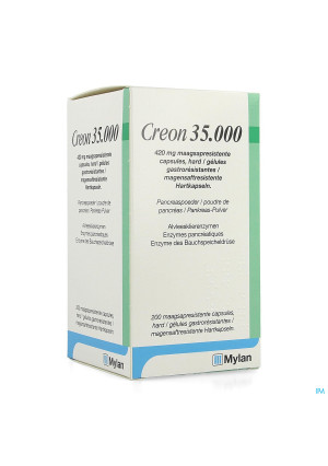 Creon 35000 420mg Maagsapresist Harde Caps200 Hdpe4213815-20
