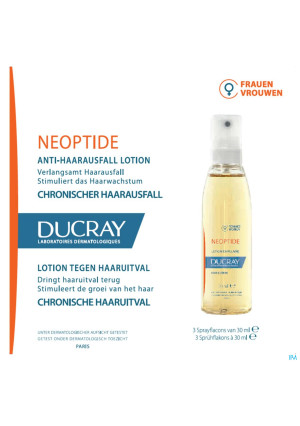 Ducray Neoptide Lot.chron.a/haaruit.vrouw3x30ml Nf4231163-20