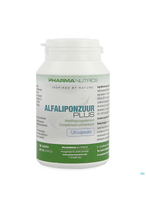 Alfaliponzuur Plus V-caps 120 Pharmanutrics4244570-20